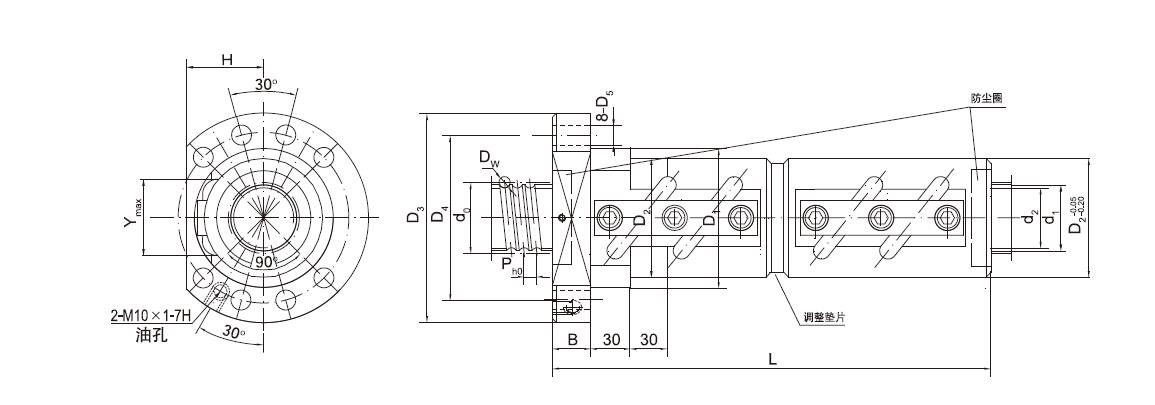 CMFZD12540-3.5滚珠丝杠