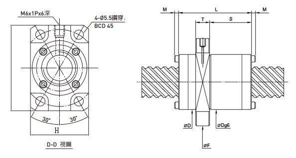 2R20-40V2-DFSH-1106-1220-0.018滚珠丝杠